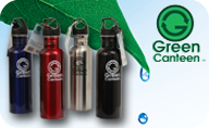 Every day 60 million plastic water bottles go into landfills, Use Green Canteen Stainless Steel Water Bottles